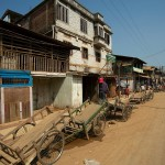 Moreh, uliczka prowadzaca do przejscia granicznego