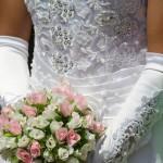 Suknia i kwiatki
